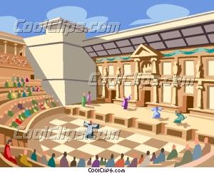Roman Amphitheatre Clip Art.