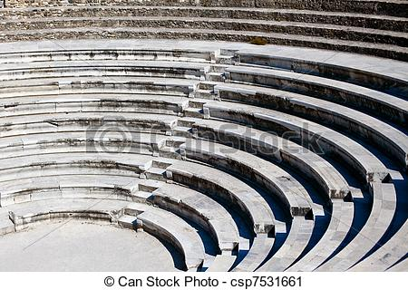 Stock Photography of Ancient Greek Amphitheatre.
