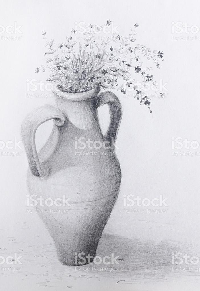 Amphora' zweihenkliges clay pot clipart #13
