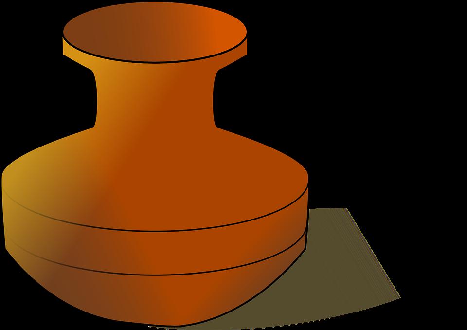 Amphora' zweihenkliges clay pot clipart #5
