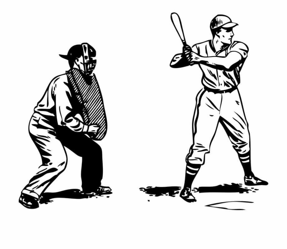 Baseball Batter Umpire Black And White Umpire Clipart.