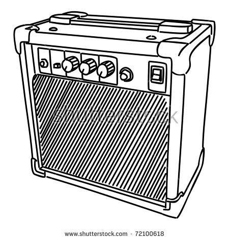 Guitar amplifier clipart.