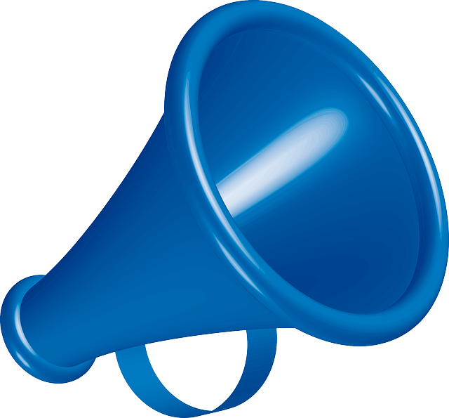 Free vector graphic: Megaphone, Blue, Instrument, Sound.