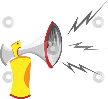 Clip art speaker horn.
