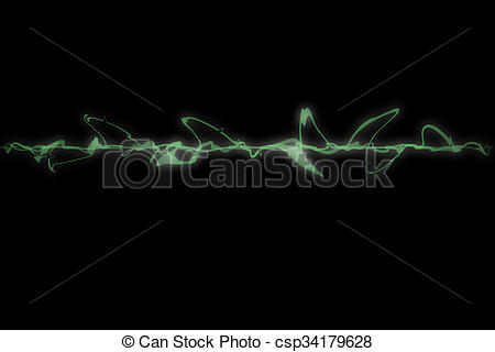 Clip Art of Abstract green amplitude illustrated for background.