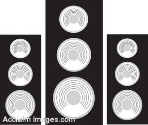 Clip Art of Stereio Speakers.