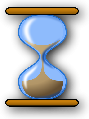 Hourglass vector clip art.