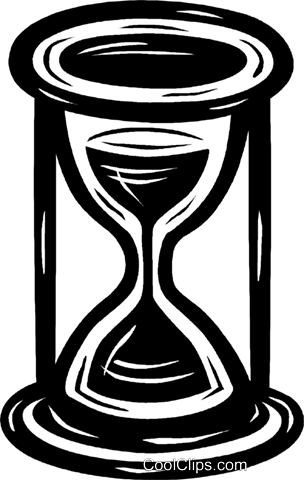 hourglass Royalty Free Vector Clip Art illustration.