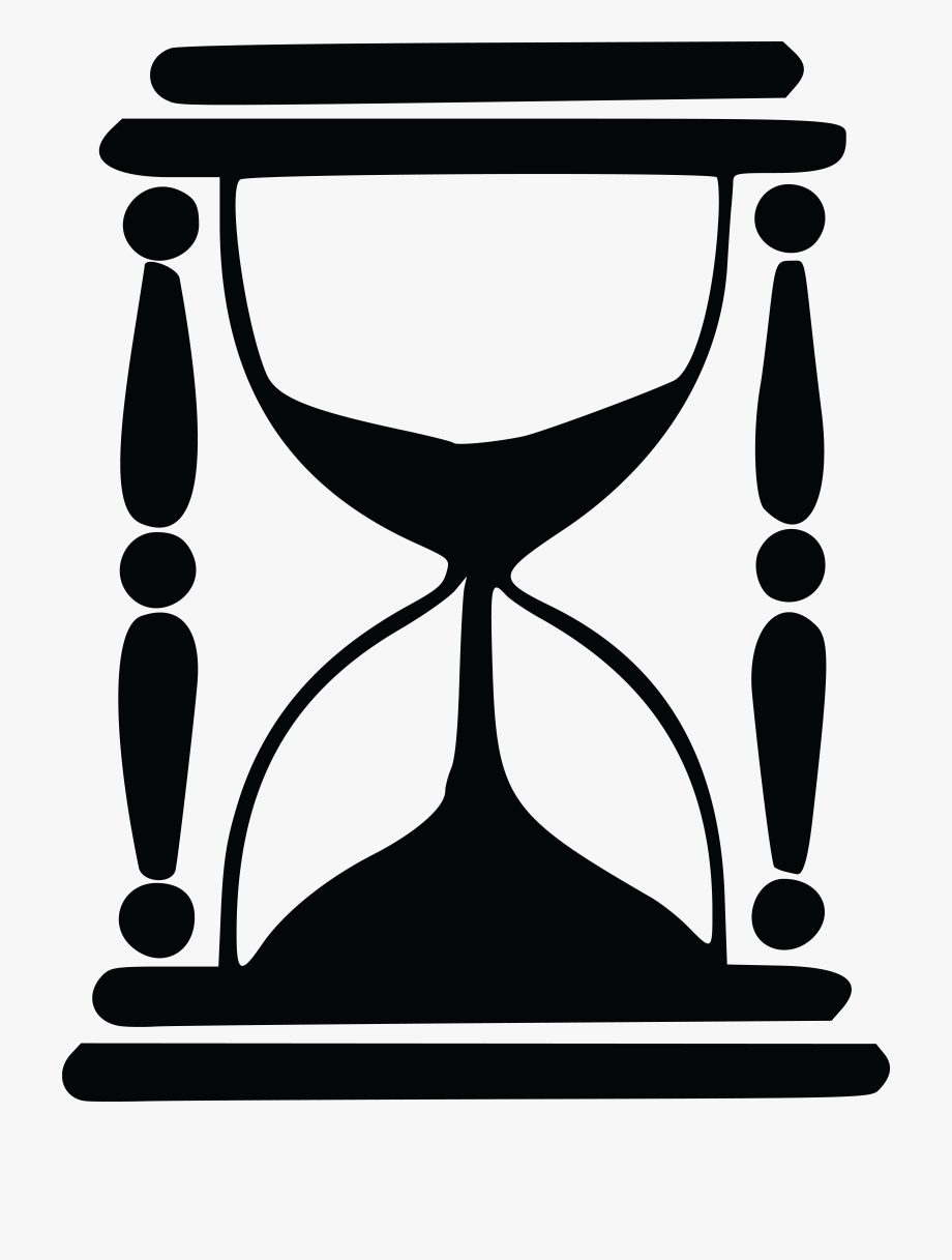 Hourglass Clipart Black And White , Transparent Cartoon.