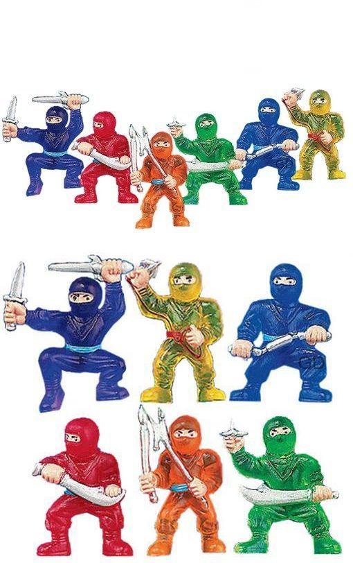 Novelty Vending Toys 51025: (96) Vinyl Ninja Warrior.