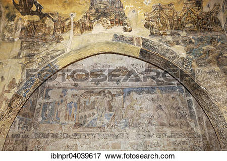 "Picture of ""Frescoes, wall paintings, bathhouse, desert castle."