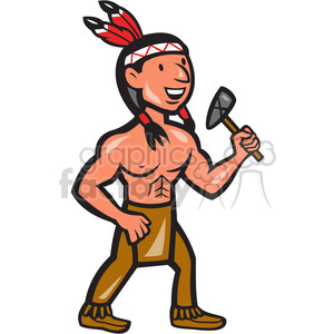 native american indian tomahawk shape clipart. Royalty.