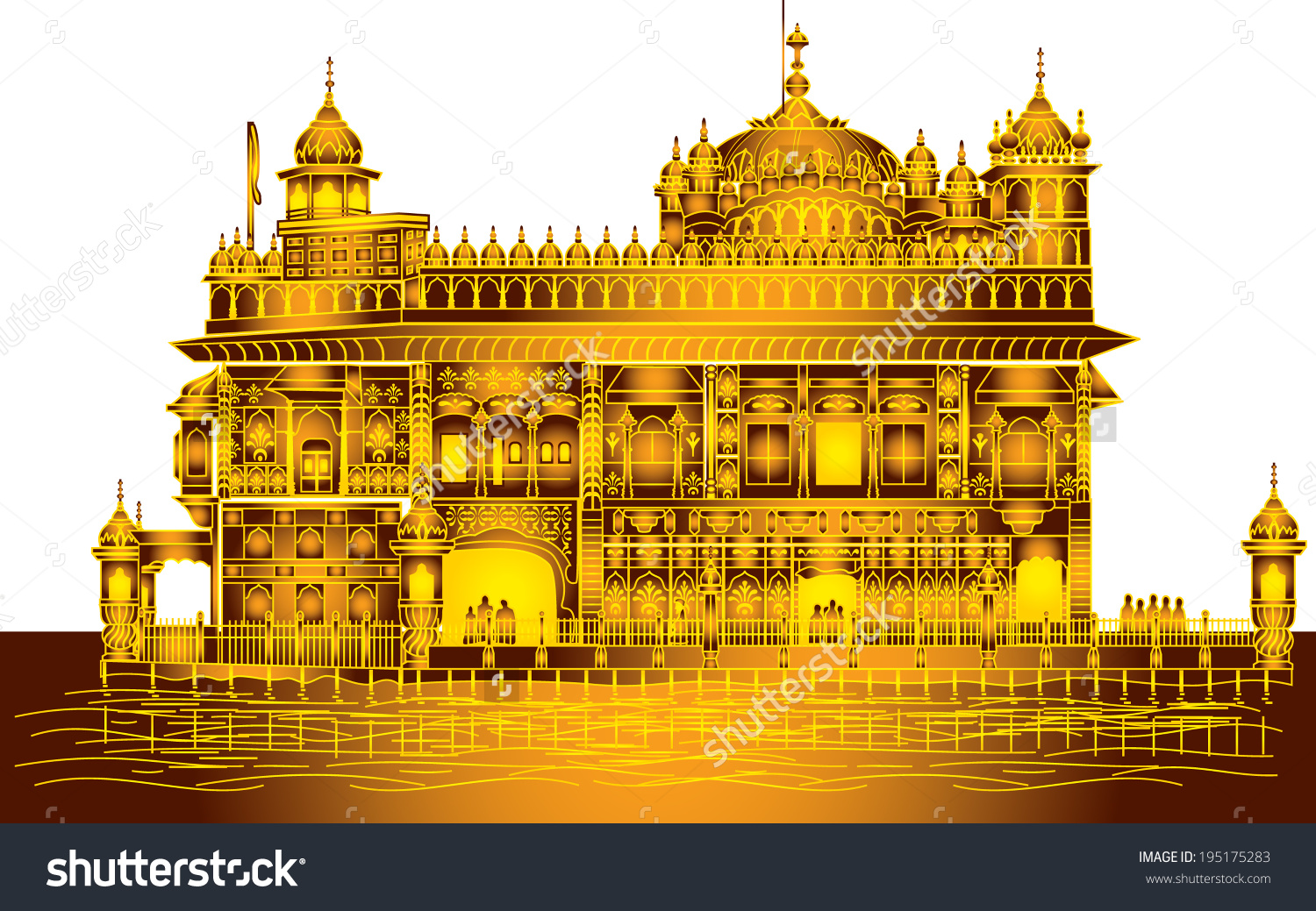 Golden temple amritsar clipart.