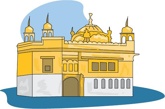 Amritsar golden temple clipart.