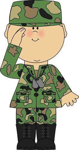 Soldier Saluting Clip Art.