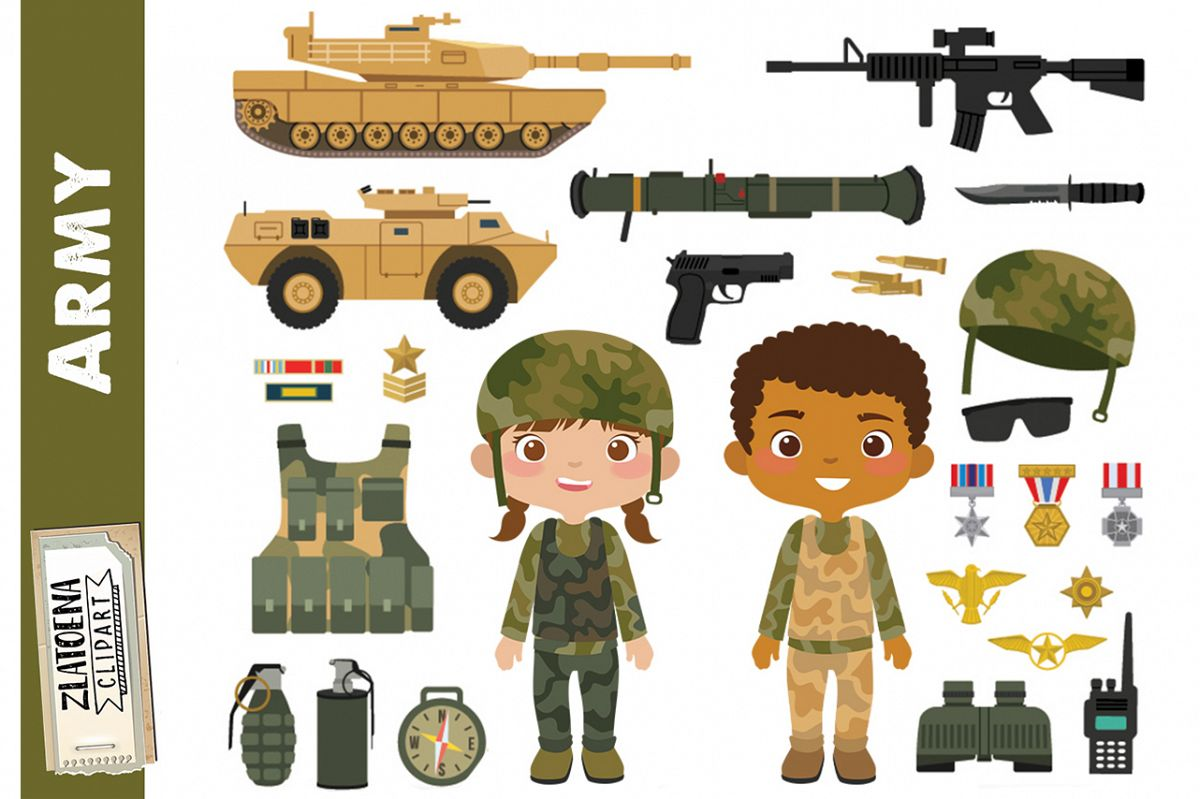 Army Clipart Military vector graphics Patriot Digital.