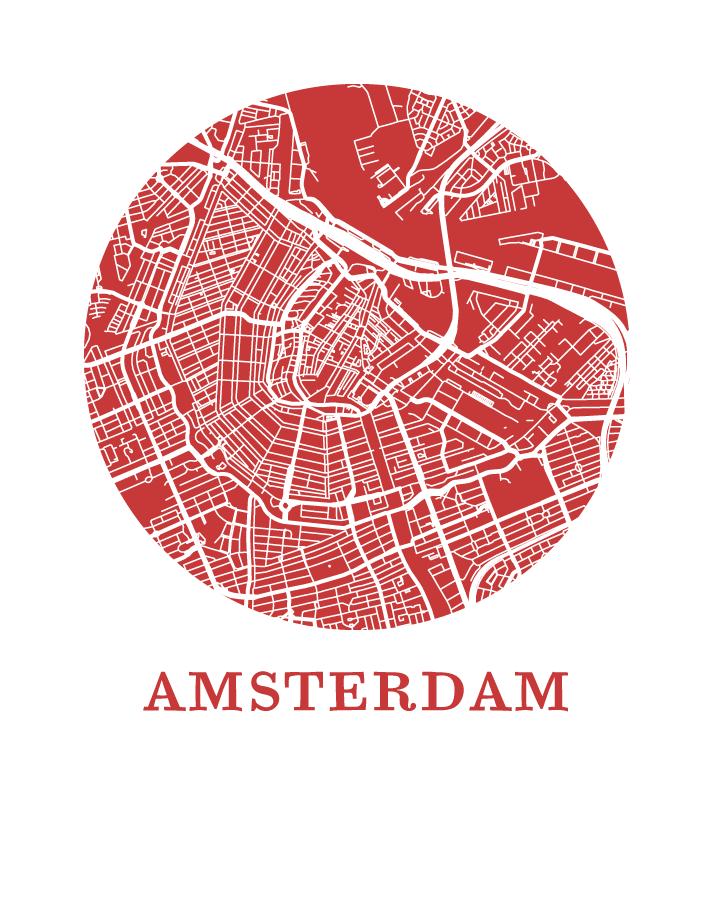 Amsterdam Map Print.
