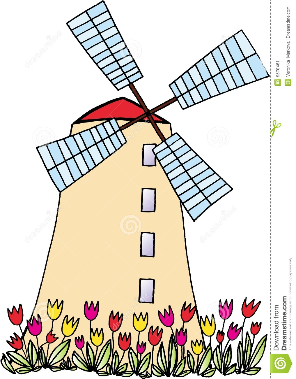 Dutch Windmill Drawing at GetDrawings.com.