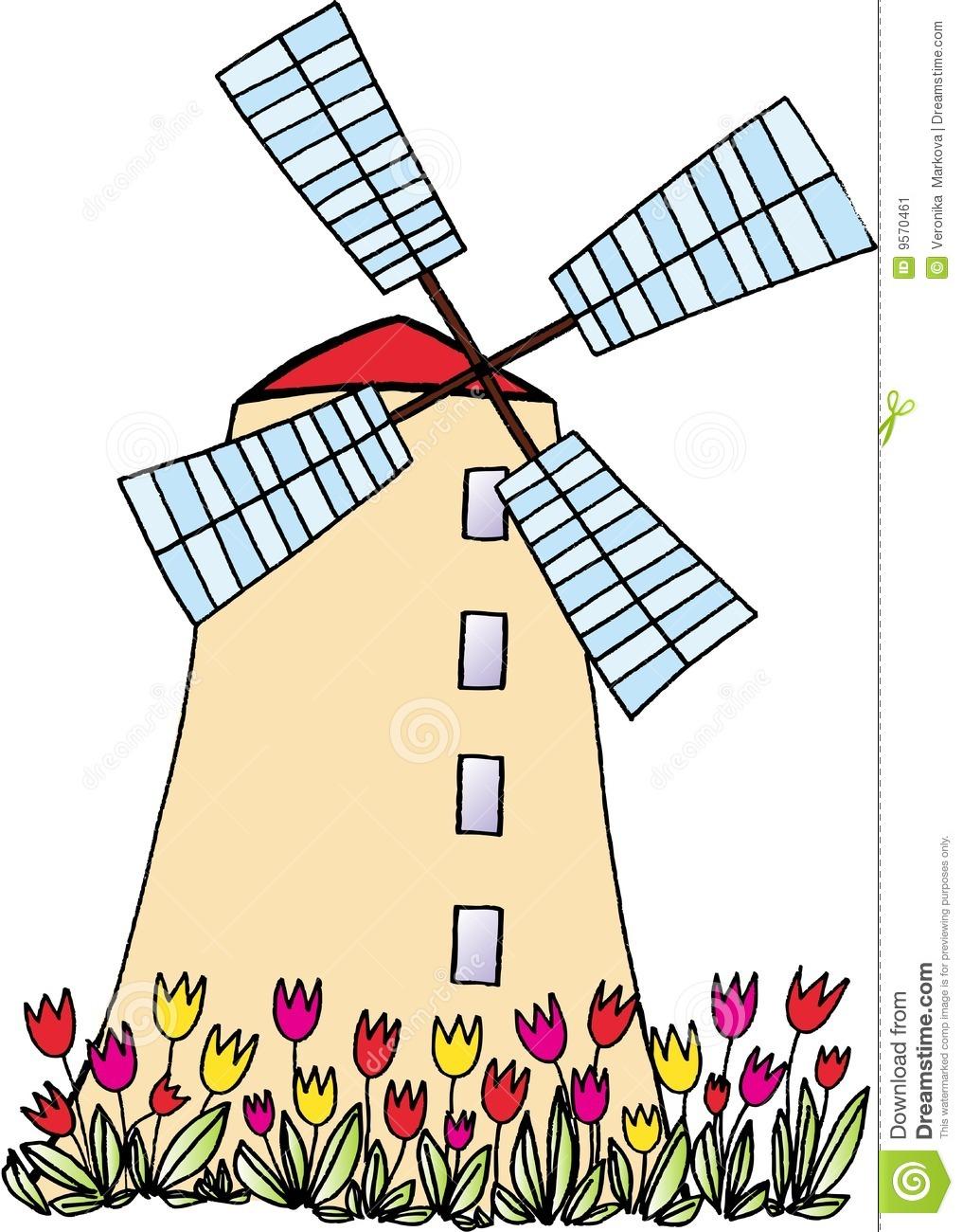 Dutch Windmill Drawing at GetDrawings.com.