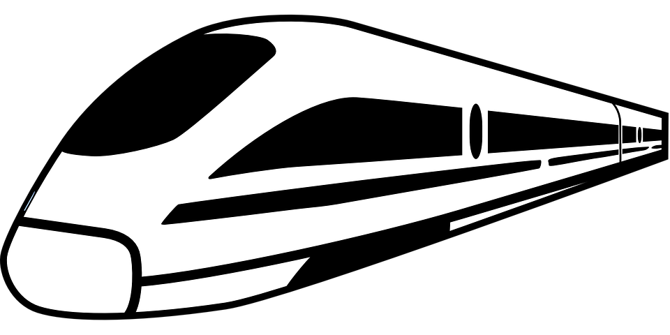 Free vector graphic: Amtrak, High Speed Train.