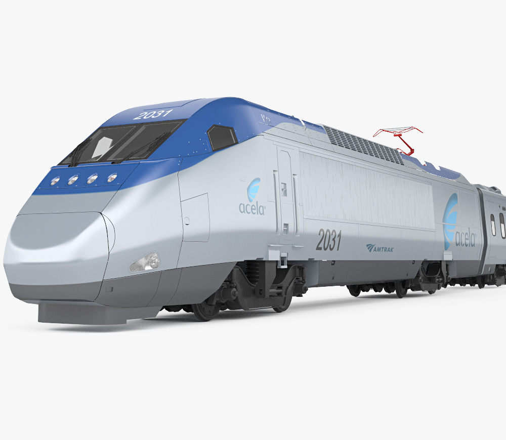Amtrak Acela Express 3D model.