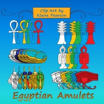 Clip Art: Ancient Egyptian Amulets.