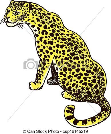 Amur leopard Clip Art Vector Graphics. 4 Amur leopard EPS clipart.