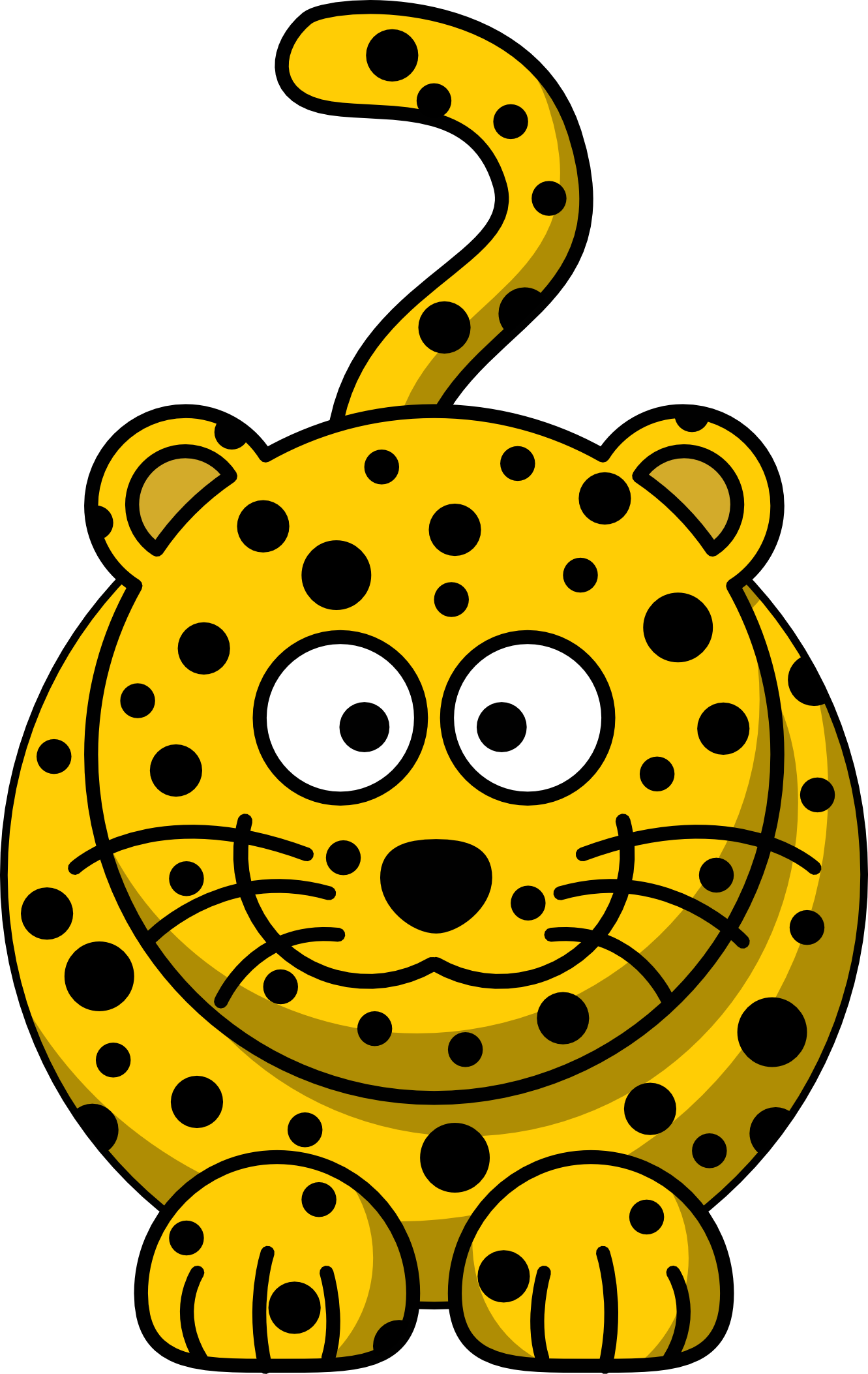 Amur Leopard Cartoon.