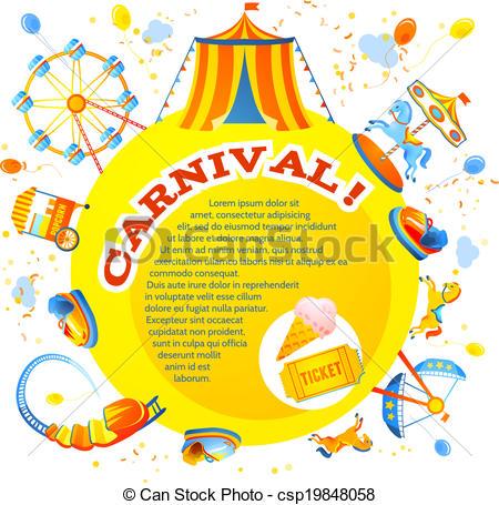 Clipart Vector of Amusement park design.