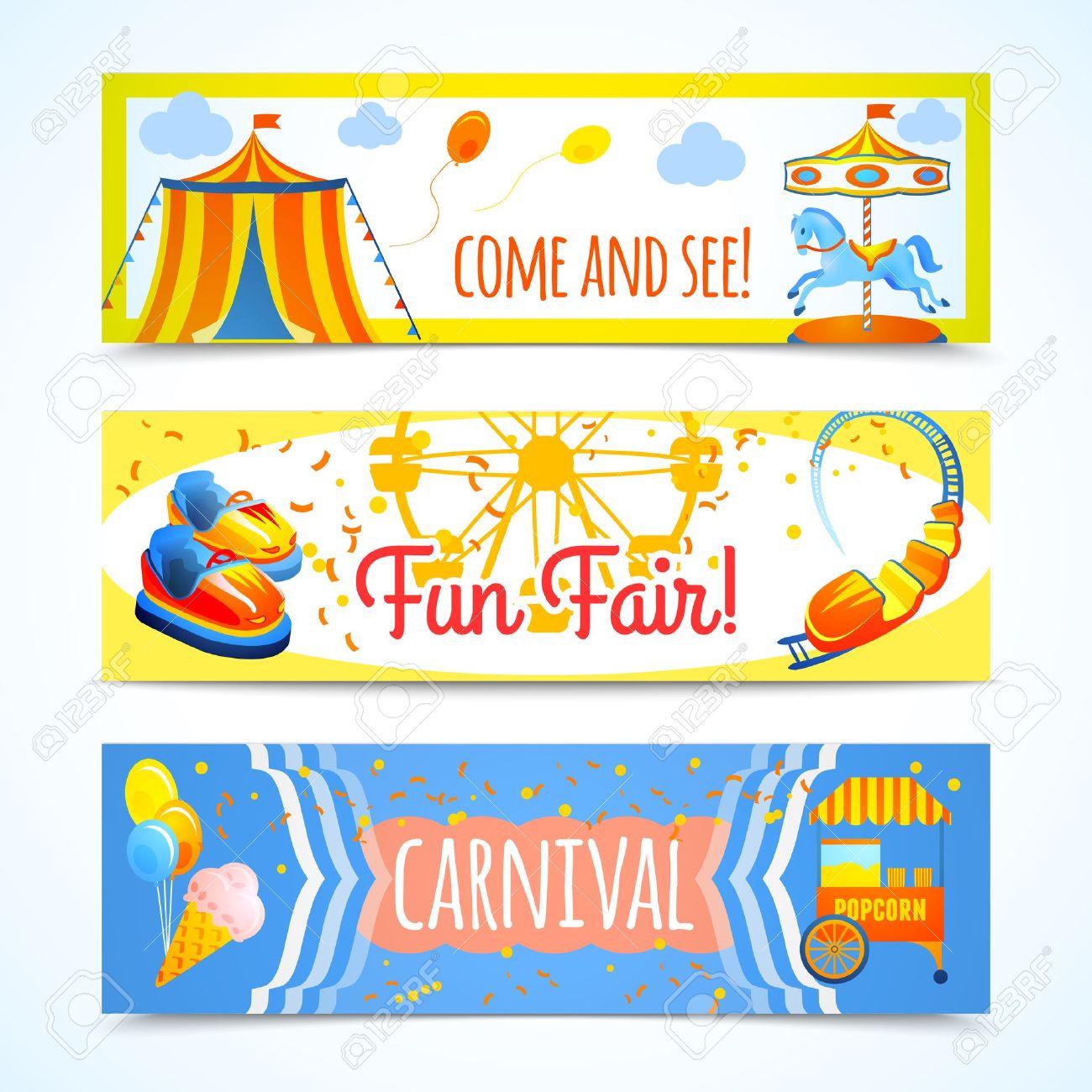 Amusement Entertainment Carnival Theme Park Fun Fair Horizontal.