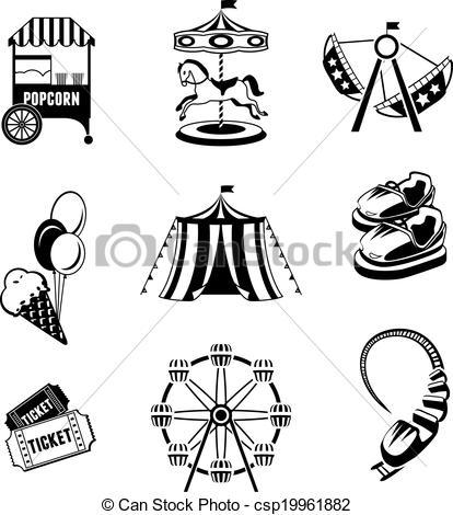 Vector of Amusement park elements.