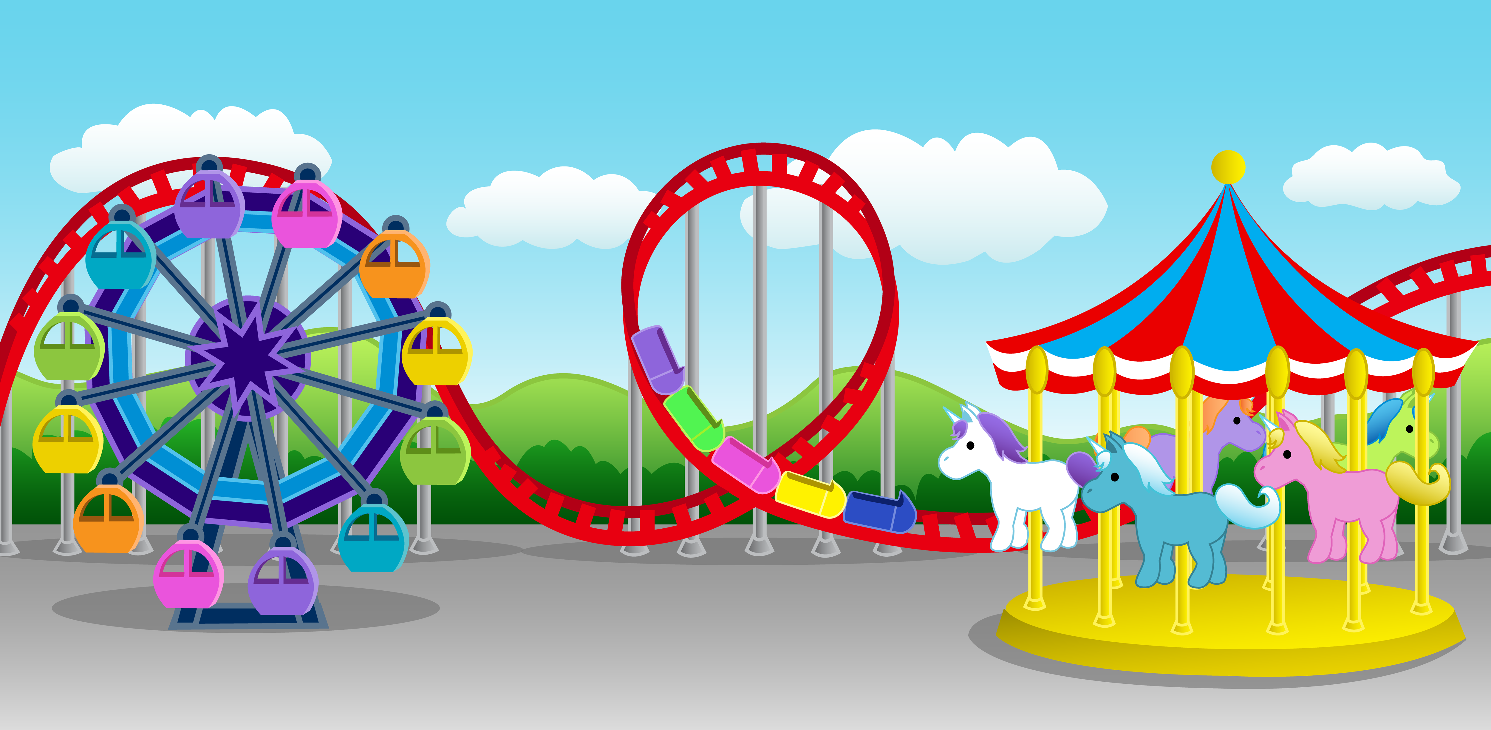 Children's carnival ride clipart - Clipground