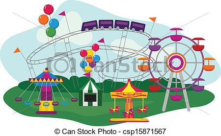 Amusement park Clip Art Vector Graphics. 6,359 Amusement park EPS.