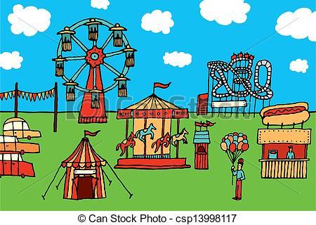 Amusement park Clip Art Vector Graphics. 6,359 Amusement park EPS.