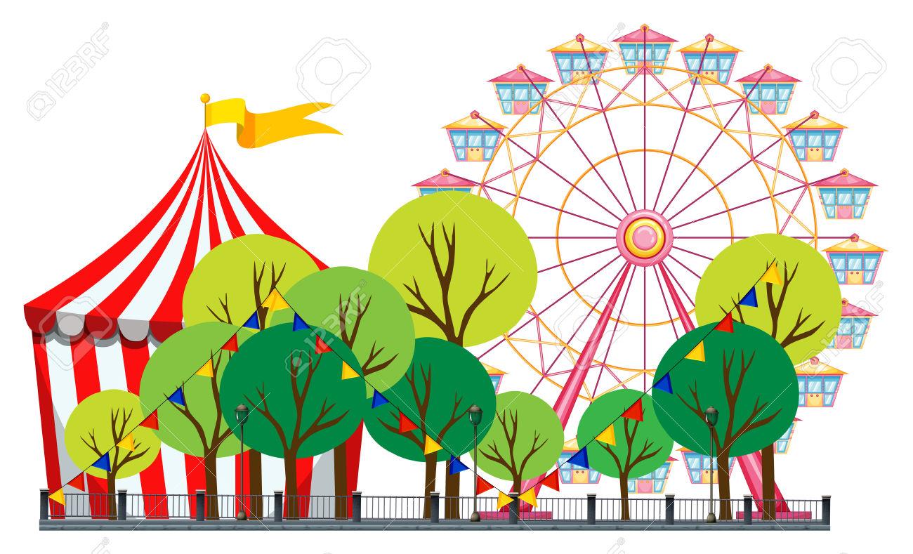 Free Theme Park Clip Art, Amusement Park Free Clipart.