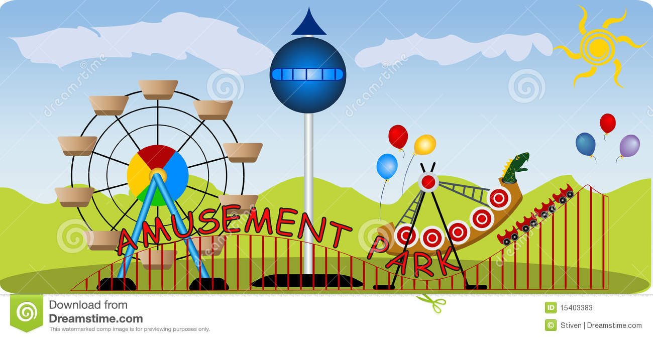 Amusement Park Stock Photos.