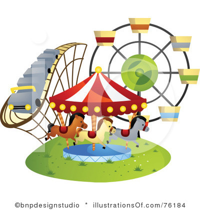 Family amusement park clipart.