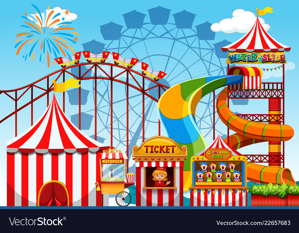 Fun amusement park template.