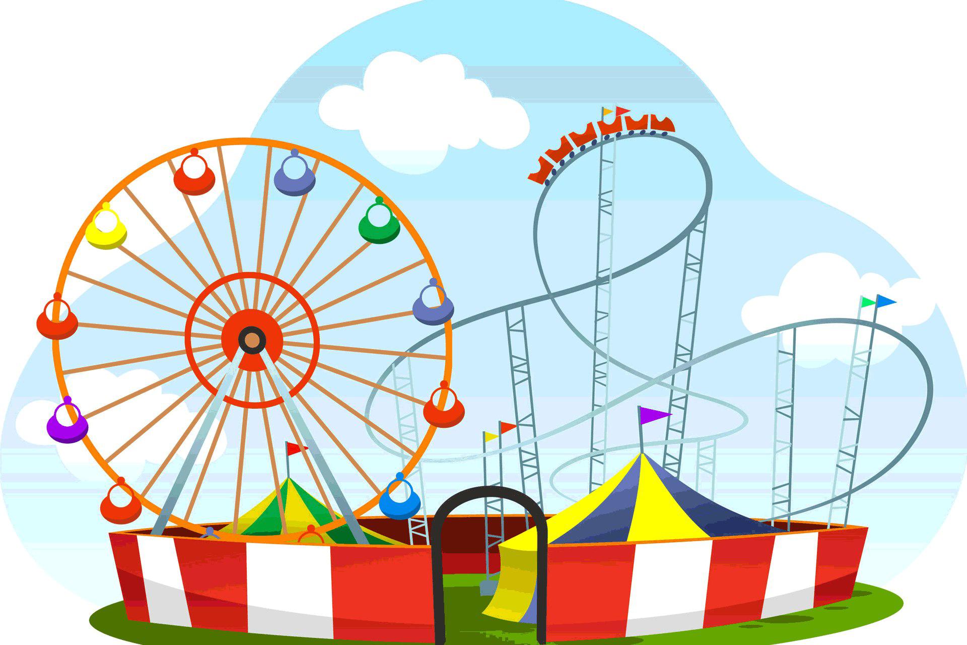Amusement Park Transparent.