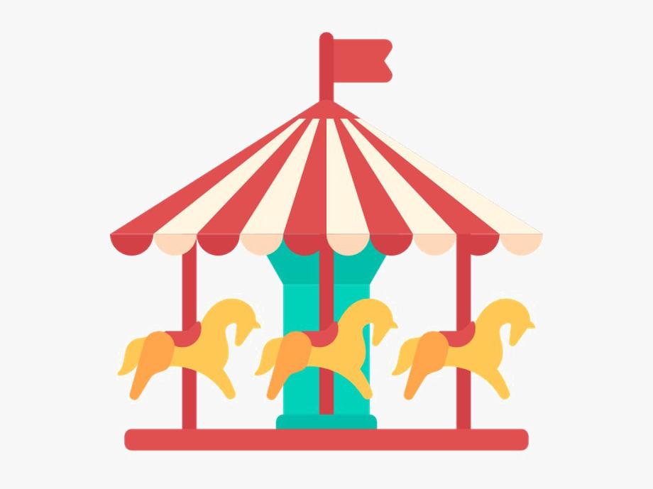 Park Carousel Transparent Image.