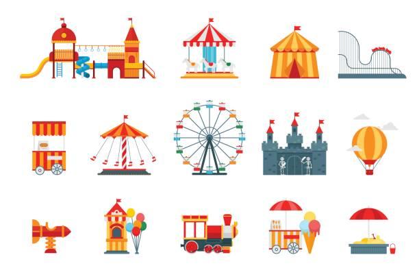 Best Amusement Park Ride Illustrations, Royalty.