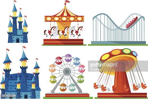 60 Top Amusement Park Ride Stock Illustrations, Clip art, Cartoons.