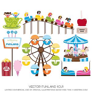 Funland ·Clipart Amusement Park Clipart.