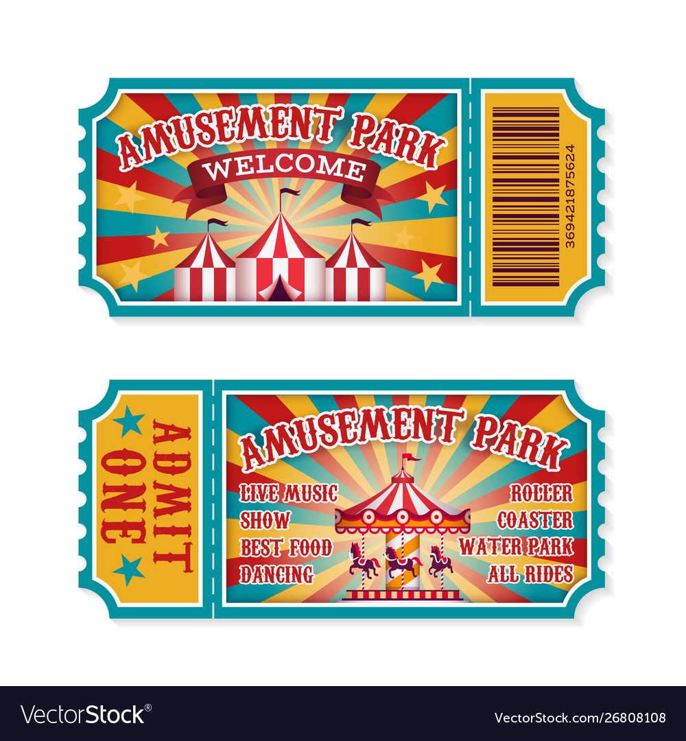 Amusement park ticket family park attractions.