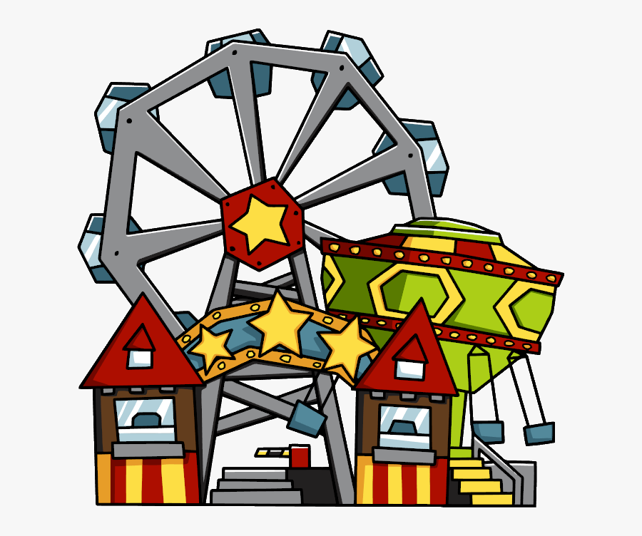 Amusement Park Transparent Background.