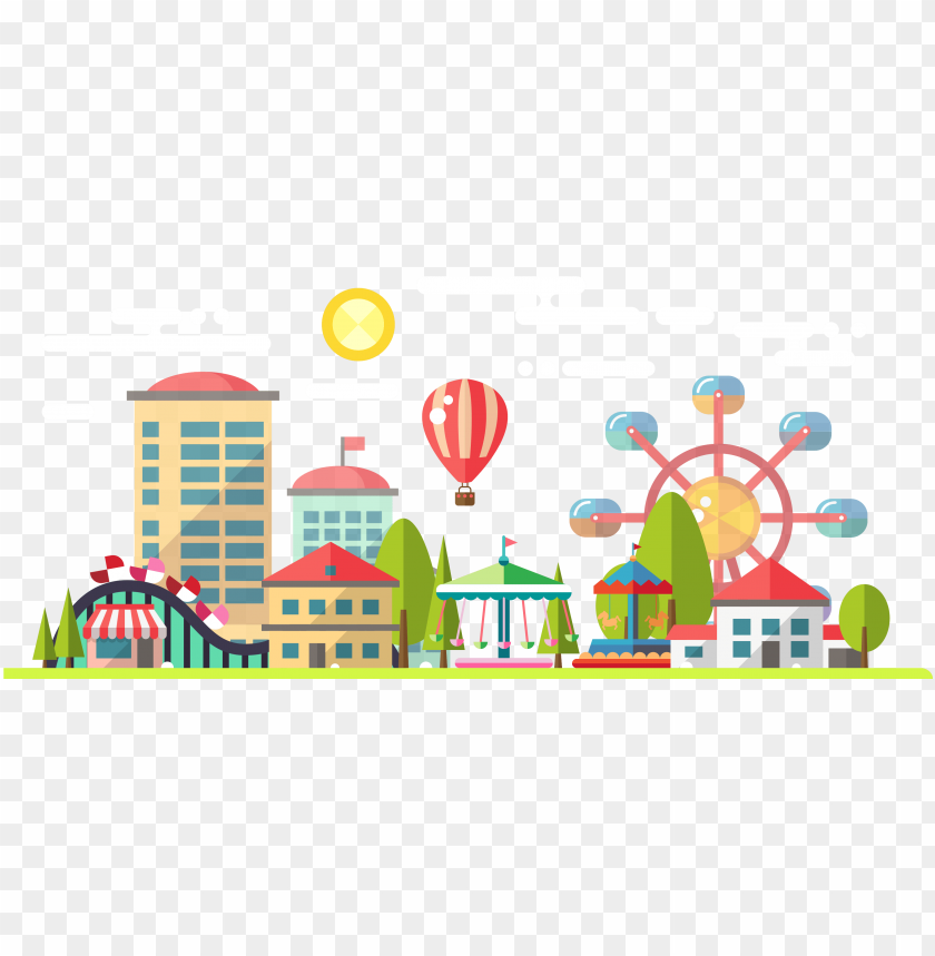 amusement park clipart sketch.
