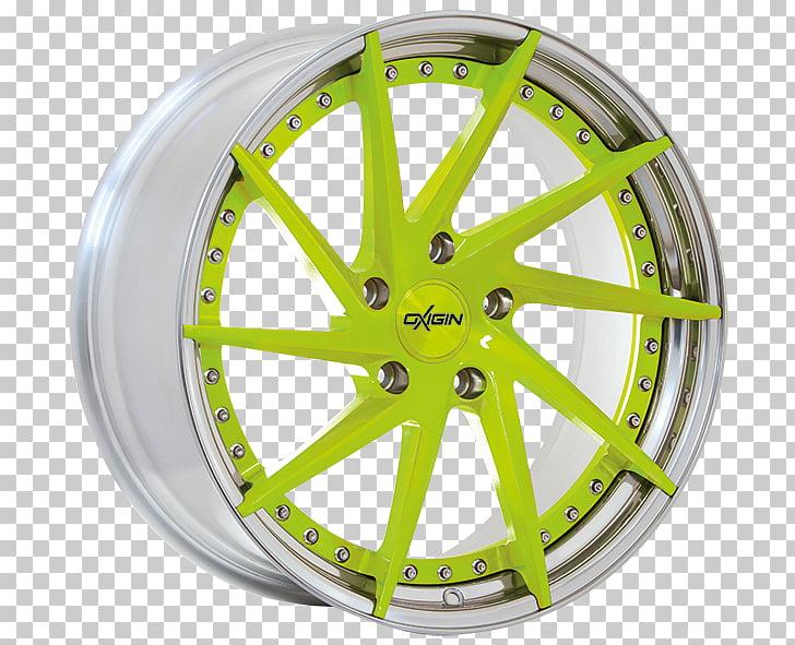 Alloy wheel Autofelge Spoke Bicycle Wheels Rim, Green liquid.