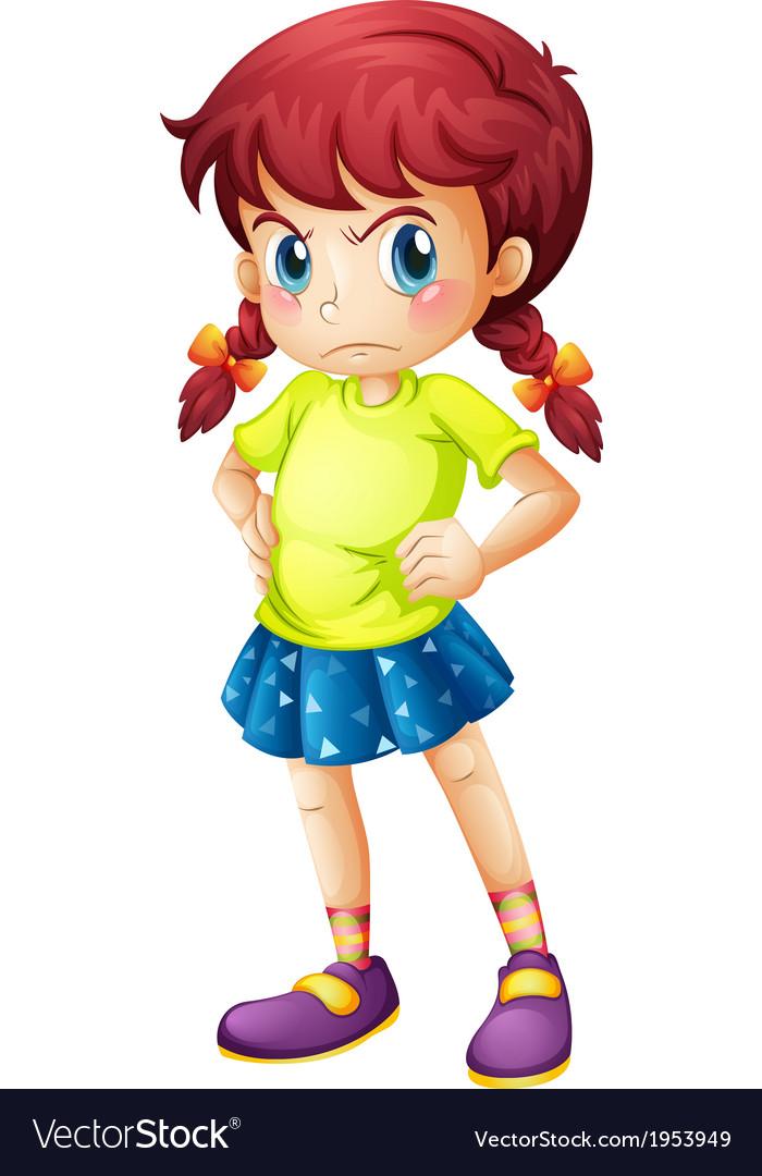 An angry young girl.