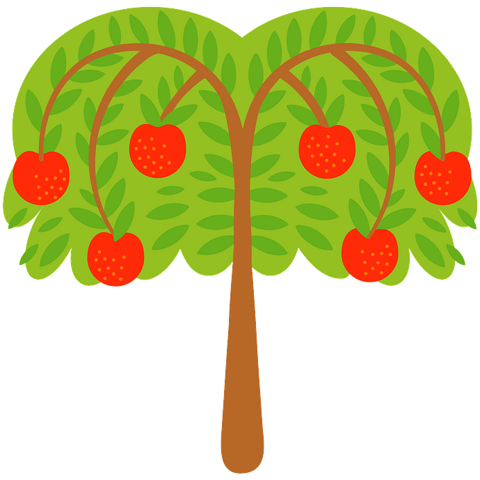 Apple tree clipart. Free download..