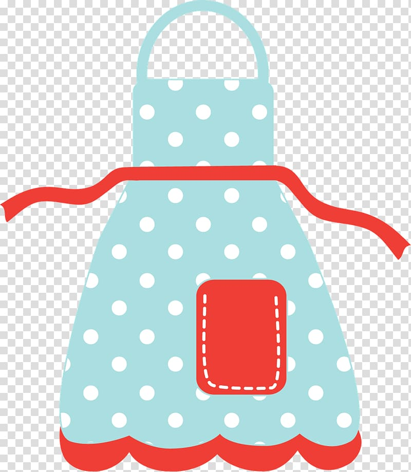 Teal and red apron art, Apron Kitchen , hello transparent.